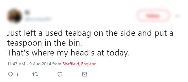 Tweet - Teabag and Spoon