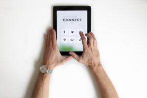 Ipad with social media accounts