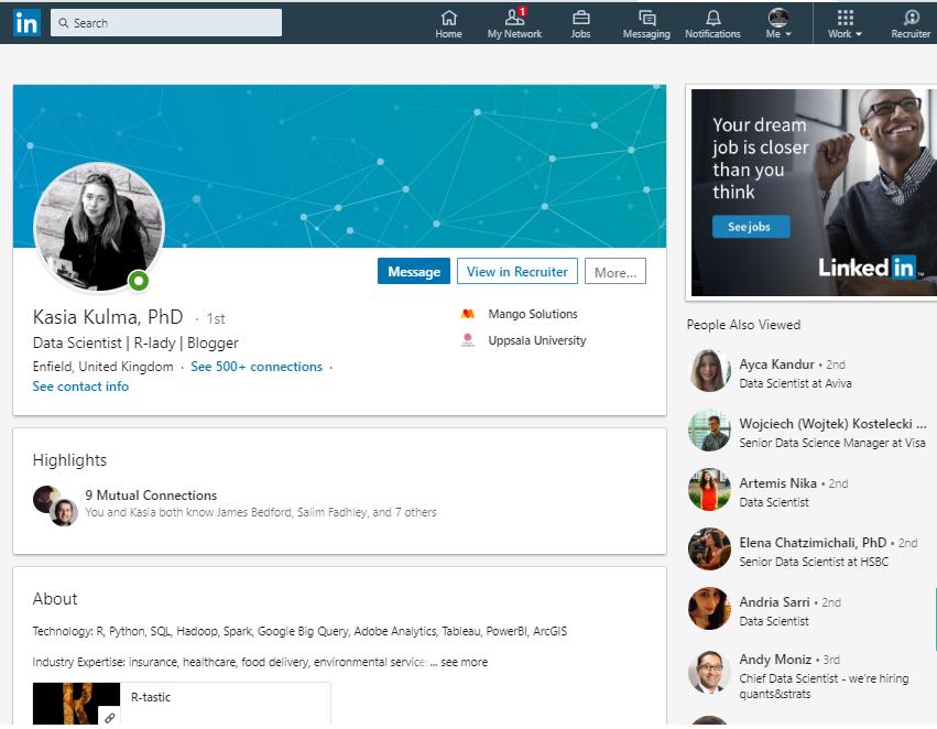 Kasia Kulma Linkedin profile