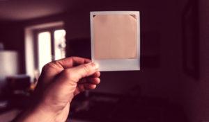 Gold Polaroid Image