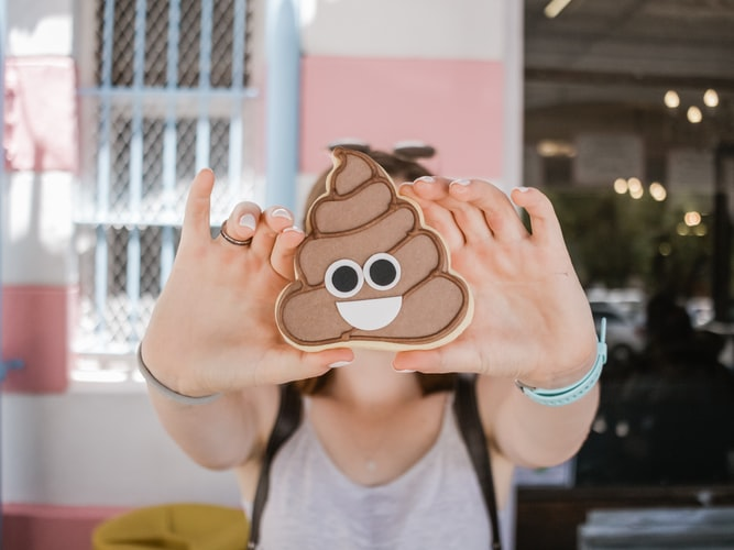 Poop Emoji Cookie