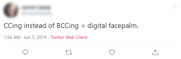 CCing and BCCing Tweet