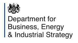 Department for Business, Energy, Industrial Strategy Logo